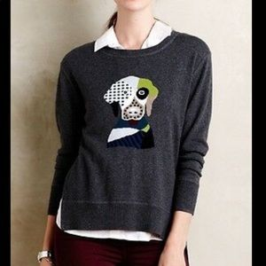 Anthropologie Lisa Todd Patchwork Fido Sweater S